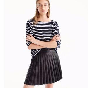 JCrew faux leather mini skirt, like new, size 2